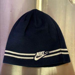 Unisex Vintage Nike Blue Beanie Hat